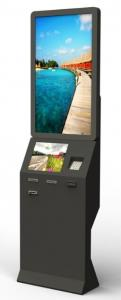 China Card Payment Half Outdoor Information Kiosks With Webcam 2QR Barcode Scanner Kiosk on sale