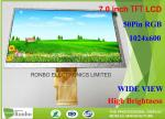 "RGB Interface TFT LCD Display Module 1024 * 600 7.0"" Thin Thickness 154.08 * 85.92mm"