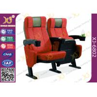 China 4d Metal feet cinema seating chairs , plastic armrest with cupholder  Cushion Theater Chairs on sale