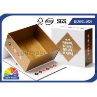 Hinged Lid Cardboard Presentation Box , Bespoke Printed Luxury Gift Packaging Boxes