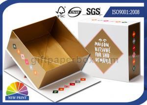 China Hinged Lid Cardboard Presentation Box , Bespoke Printed Luxury Gift Packaging Boxes on sale
