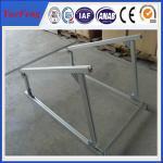 aluminium extruded profile aluminum alloy frame solar system, solar aluminium profiles