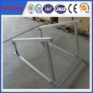China aluminium extruded profile aluminum alloy frame solar system, solar aluminium profiles on sale