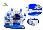 Blue White Commercial Kids Air Jumping Inflatable Castle Toys With Roof