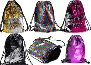 China Mermaid sequins package flip Flip Two-tone Reversible beam bag beach bag sequin bag backpack OEM color logo on sale