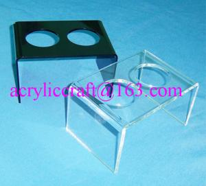 China 2 holes acrylic ice cream cone display stand, acrylic ice cream cone display holder on sale