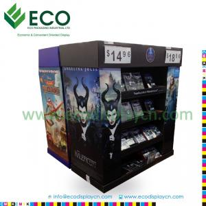 China Attractive DVD DisplayRack with Corrugated Material, Cardboard Display for CD DVD, Comic Book Display Rack on sale
