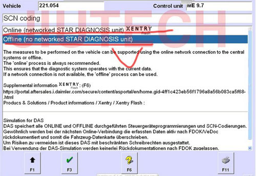 Offline SCN Coding Opening Service Mercedes Star Diagnosis Tool for