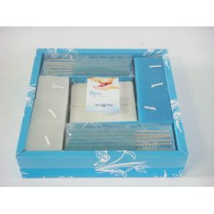 China 青い鉱泉の正方形のビャクダンの蝋燭の香のギフトは鉱泉のギフトを自宅で置きます on sale
