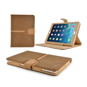 China Colorful Stand PU Leather Ipad Protective Case , Buckle Suede IPad Mini Cover on sale