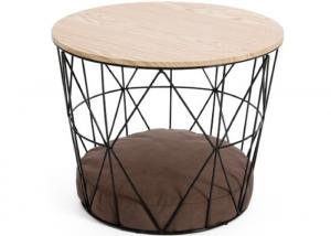 China 15KG H35cm Metal Basket Coffee Table With Storage on sale