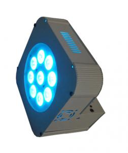 China 9 x 15w RGBWA 5in1 Dmx Wireless LED Par Cans , Outdoor Battery Powered Led Uplight on sale
