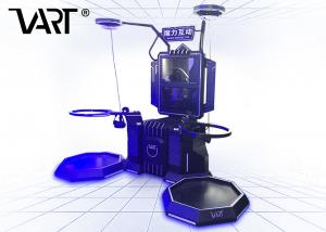 China VR Game Center 9D Simulator 2 Seats Magic Interactive With HTC VIVE Space Platform on sale