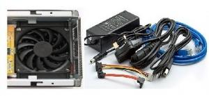 "Quality USB2.0& LAN NAS 3.5"" SATA, network HDD enclosure MH-HN-650BT for sale"