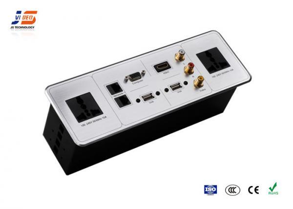 Tabletop Multimedia Pop Up Socket With HDMI RJ USB VGA AV Power - Conference table data ports hdmi