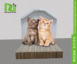 China Customized Cardboard Home Furniture Pet House Lightweight And Assmenble on sale
