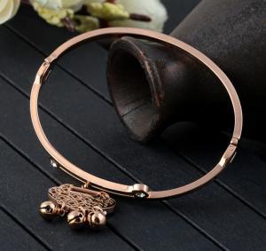 China Charms Fashion Diamond Jewelry adjustable stainless steel bangle bracelet on sale