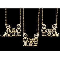 New arrival stainless steel gold plated family pendant necklace for Father