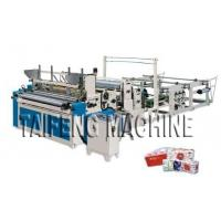 Automatic high speed toilet paper embossed rewinding bathroom tissue making machine