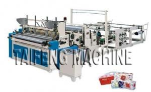 China Automatic high speed toilet paper embossed rewinding bathroom tissue making machine on sale