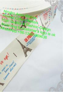 China Print Ribbon,Fashion Ribbon,Cotton Tape,Cotton Ribbon,1/4,3/8,5/8,Lace,Clothing Accessories,Eiffel Tower on sale