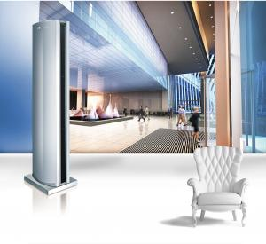 China Cyclone Cross Flow Vertical Air Curtain / Air Cutter For Door Approved ISO 9001 on sale