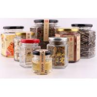 China Hexagonal Glass Honey Jars 45ml-730ml Food Container Lead Free Sealed Bottle on sale