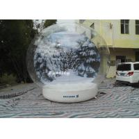 3 - 6m advertising Inflatable Snow Globe Bubble Decorations / Snow Bubble Tent