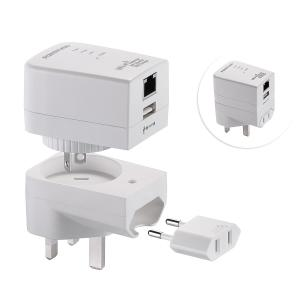 China Multifunctional USB Travel Charger Worldwide Plugs with Wireless WiFi Router on sale