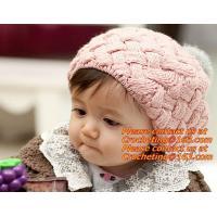 Infant Handmade Crochet Winter Hat Kid Viking Horns Hat Knitted Hat