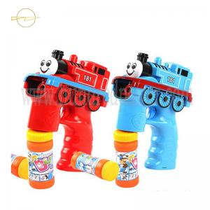China Outdoor Light Up Bubble Blaster Train Shaped Bubble Blowing Toys For Toddlers on sale