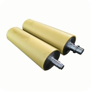 China Durable PU Rubber Roller For Machinery , Cementing Industrial Rubber Rollers on sale