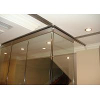 Clip Aluminum Soliding Glass Partition Wall  Top Supported For Meeting Room