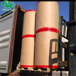 China Coated Black Image Thermal Paper Jumbo Rolls 2 Rolls Per Pallet 875mm*9000 Meters on sale