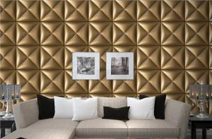 PVC Tiles 3D wall tiles interior fire resistant leather decoration ...