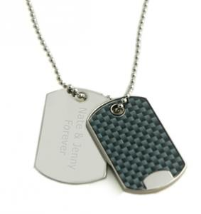 China high polish Finishing IPR Plating Personalised Dog Tags with Semi-Precious Stones on sale