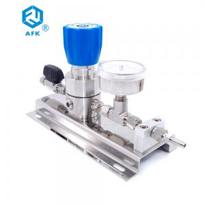 China High pressure gas control panel stainless steel 316L argon gas pressure regulator with ball valve on sale