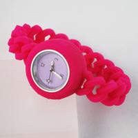 Loom band silicone watches,Various colors, Competitive price, Japanese movement