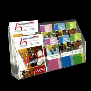 China Office Magazine Transparent Acrylic Display Holder Oem Design With Cutting Process on sale