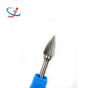 China Industrial Cone Carbide Burr Set Tree Shape Carbide Rotary Bits  With Radius Pointed End on sale