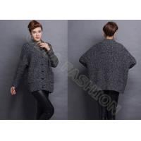 China Elegant Acrylic Lady Crew Neck Sweaters , Long Sleeve Wool Sweaters For Women on sale