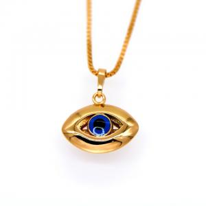 China Blue eyes pendants Vintage jewelry 18K Gold Plated Fashion african Jewelry crystal Necklac on sale