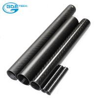 China glossy matte plain weave 3k carbon fiber tube on sale