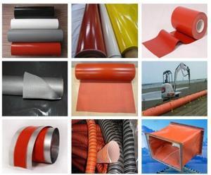 China Silicone rubber coated fiberglass cloth on sale