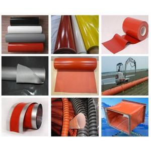 China Silicone rubber coated fiberglass cloth on sale