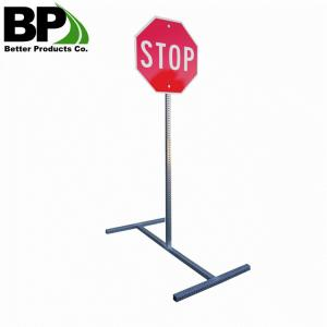 China vintage street sign steel material 8' power coated square sign post on sale