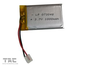 China Lipo Battery LP073048 3.7V 800mAh Polymer Lithium Ion For Electrial Production on sale