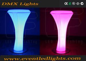 China Modern PE Plastic led bar table Set high bar lighted cocktail tables white on sale