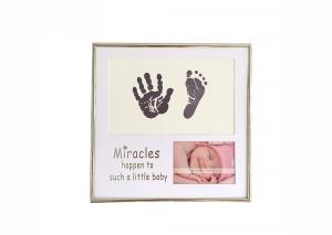 China Unique Customized Baby Hand And Footprint Photo Frame For Full Moon Gifts on sale