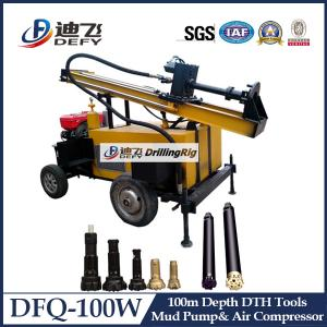 China 100m DFQ-100W water well rotary drilling rig Machines on sale